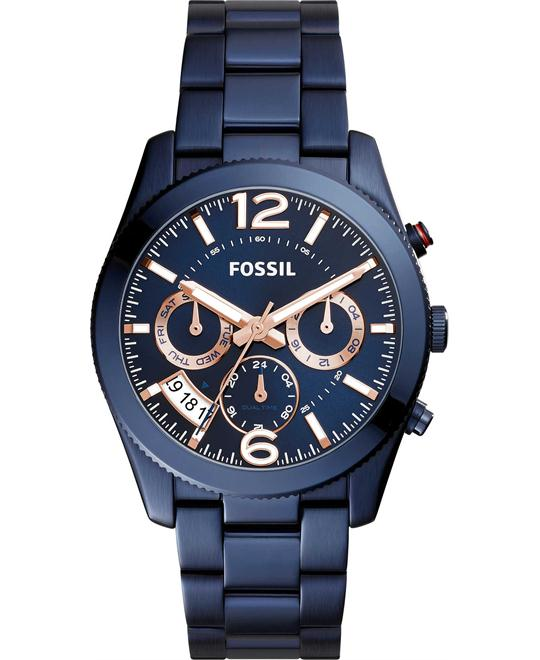 Fossil Perfect Boyfriend Blue Women's Watch 39mm