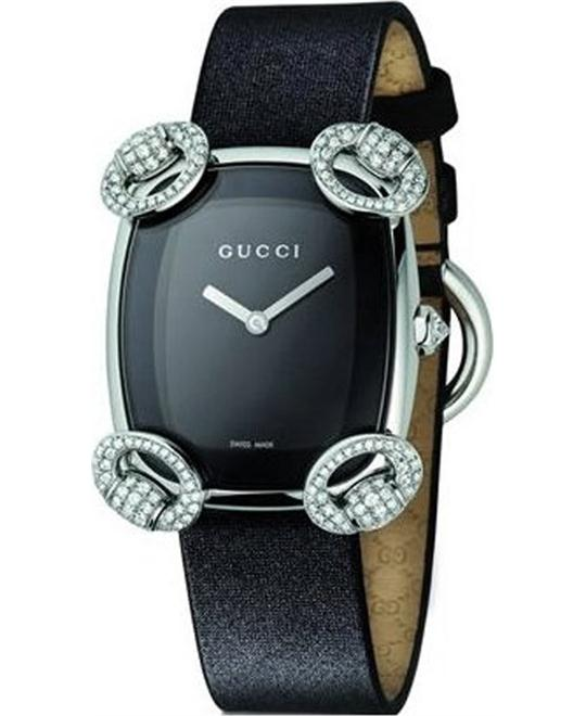 GUCCI  117 Horsebit Cocktail  DIAMOND WATCH 28x33mm