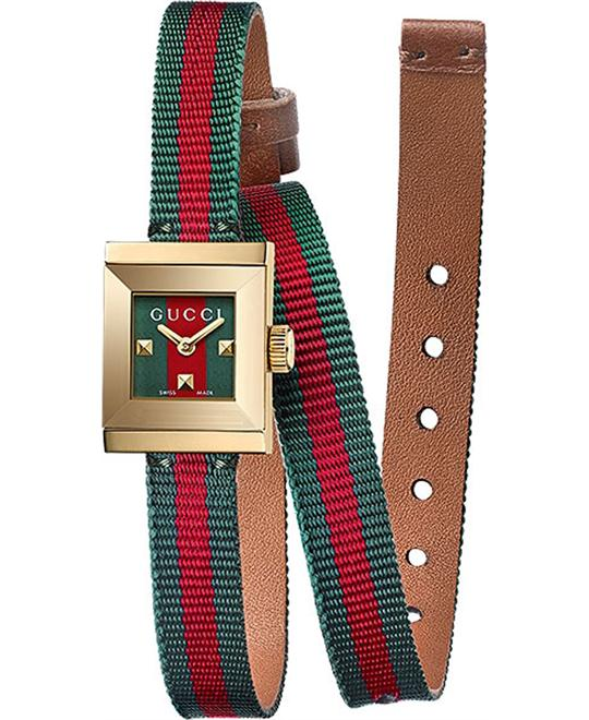 Gucci G-Frame Red and Green Dial Watch 14x18mm