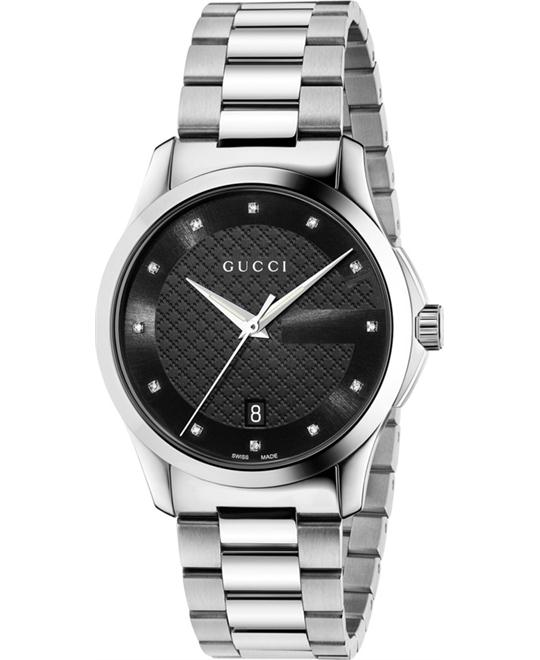 GUCCI G-Timeless Diamond Unisex Watch 38MM