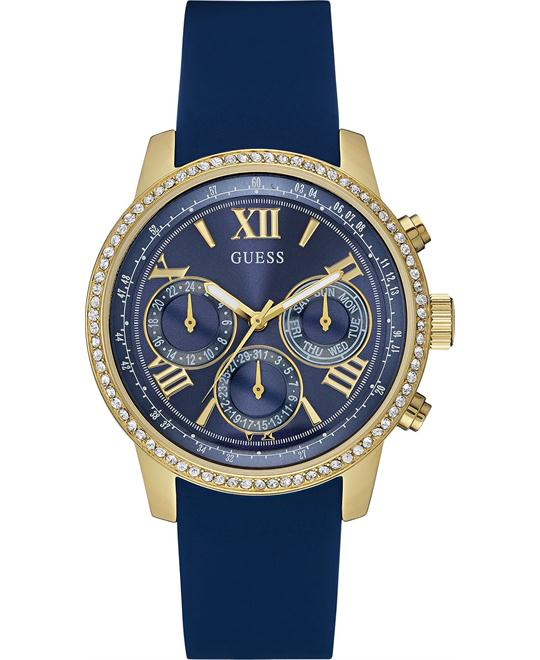 GUESS Blue Silicone Strap Women's Watch 42mm
