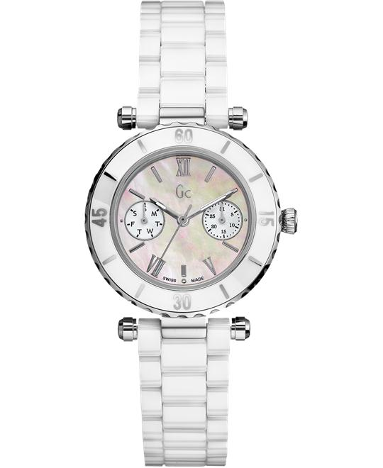 Guess Diver Chic Ceramic Anti-Reflective Sapphire Women's, 34mm