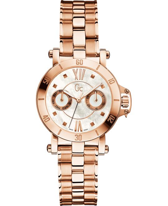 GUESS GC Femme Rose Gold-Tone Timepiece, 34mm