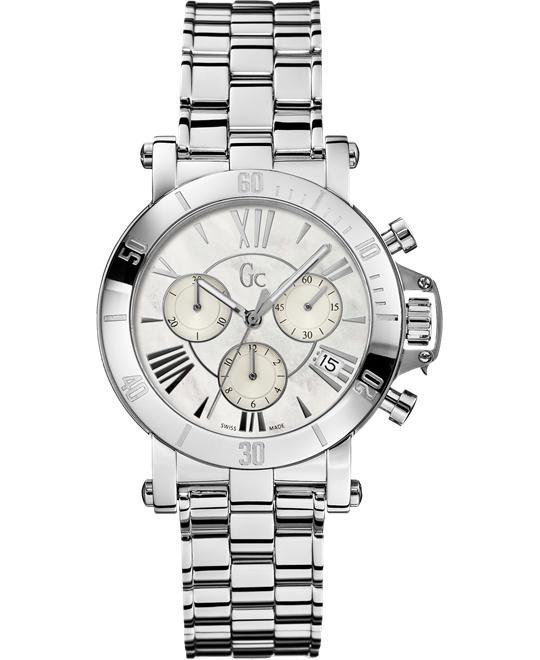 GUESS Gc Femme Watch Silver-Tone Timepiece, 37.5mm