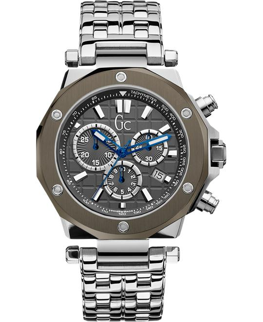 GUESS Gc Swiss Chronograph Gc-3 Mens Watch, 44mm