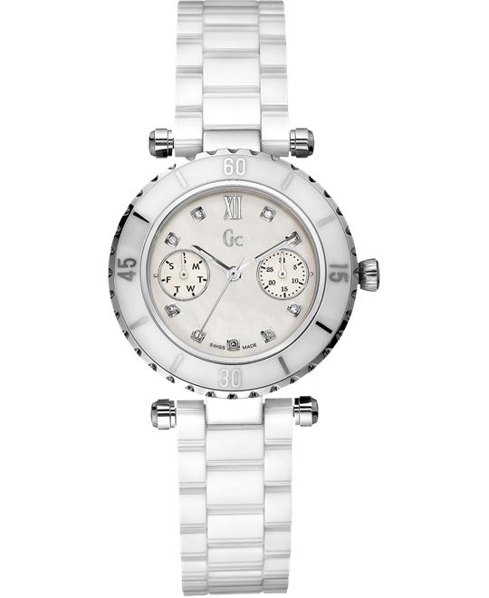 GUESS Women's GC DIVER CHIC Diamond Ceramic,34mm