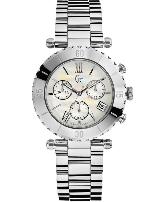 GUESS Women's Gc Diver Chic Silver Timepiece, 38.5mm