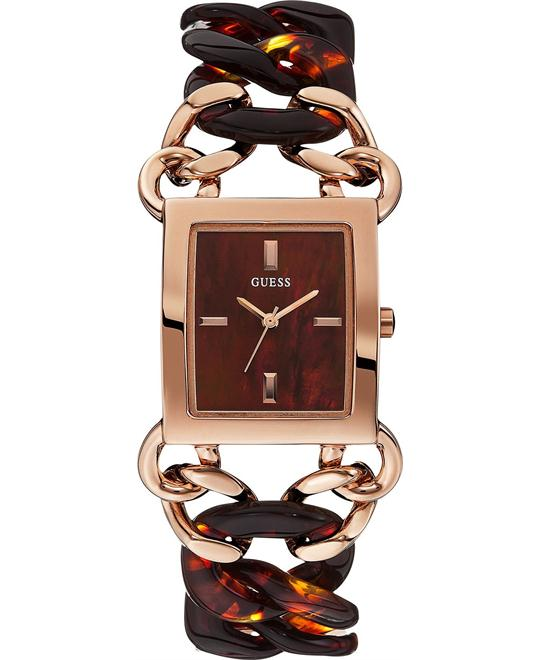 GUESS Contemporary Tortoise Look Watch 30x27mm