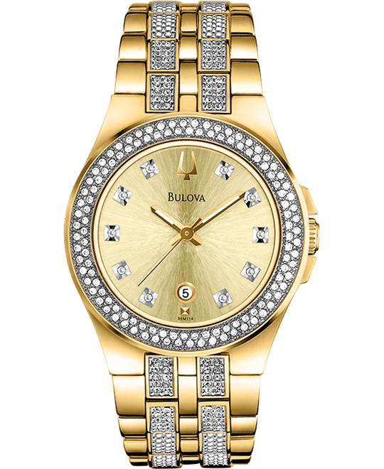 Ladies' Bulova Crystal Crystal collection 32mm