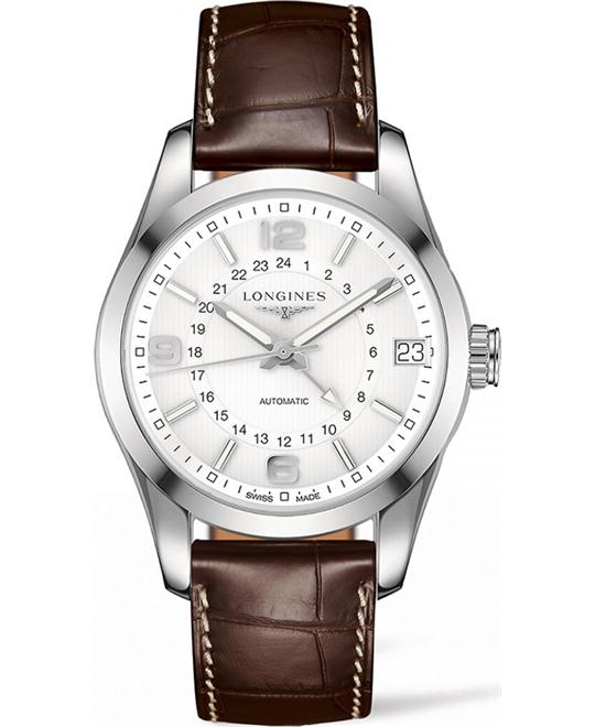Longines Conquest L2.799.4.76.3 Classic Alligator Watch 42mm