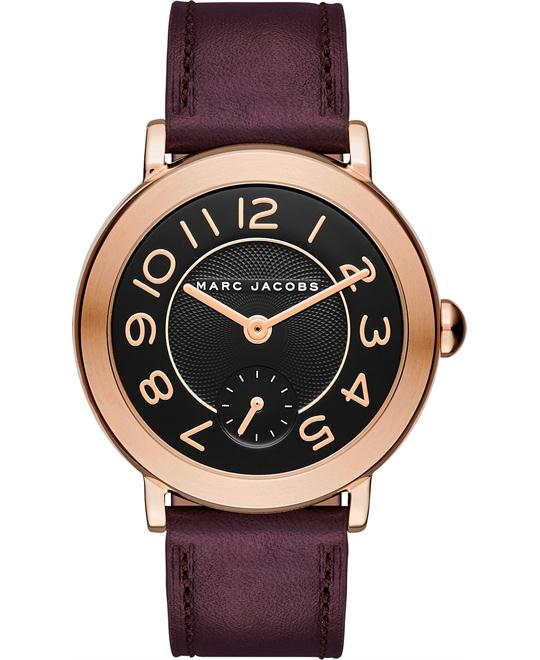 Marc Jacobs Riley Women's Leather Strap  Watch 36mm