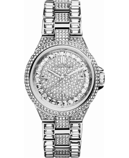 Michael Kors Camille Silver Crystal Women's Watch 33mm