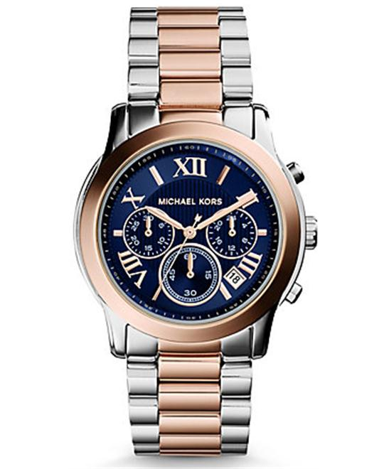 Michael Kors Cooper Blue Dial Two-tone Unisex Watch 38mm