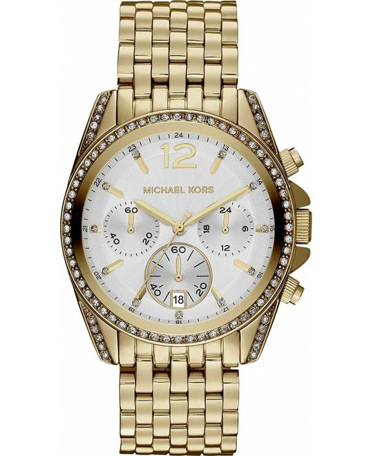 Michael Kors Pressley White Dial Unisex Watch 39mm
