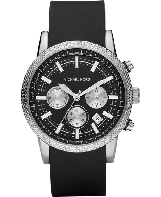 Michael Kors Scout Black Polyurethane Men's Watch 44mm