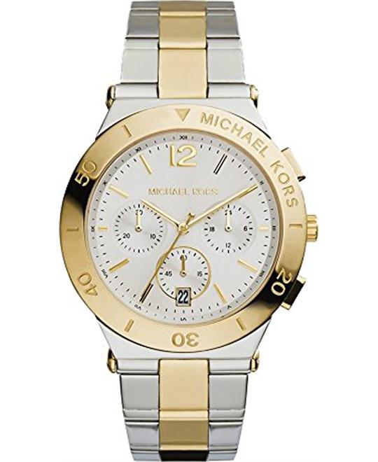 Michael Kors Wyatt Gold and Silver Men's Watch 40mm