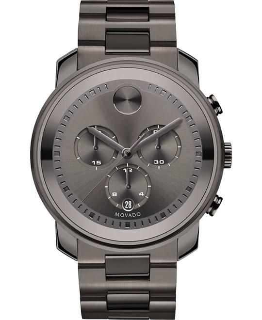 Movado Bold Gunmetal Ion-Plated Men's Swiss Watch 44mm