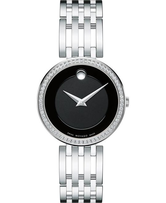 MOVADO Esperanza Matte Black Ladies Watch 28mm