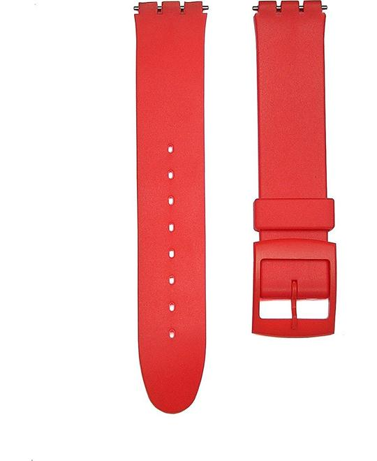 RED Replacement Watch Band for Standard Gents Swatch Watch 17mm