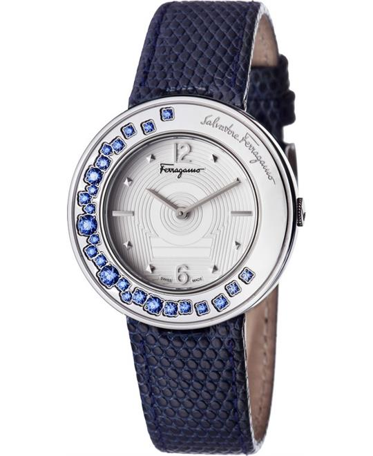 Salvatore Ferragamo GANCINO SPARKLING Swarovski Watch 36mm