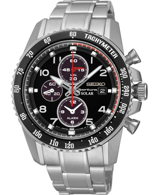 Seiko Sportura Solar Chronograph Mens Watch 44.5mm