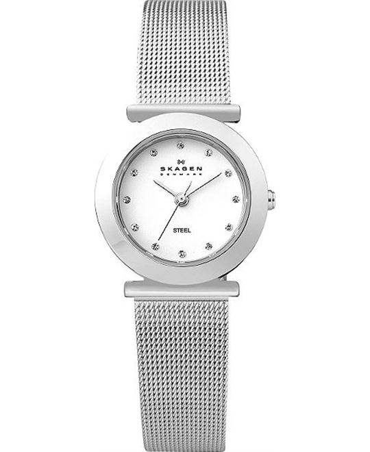 SKAGEN WOMEN'S WATCH SILVER TONE 25MM