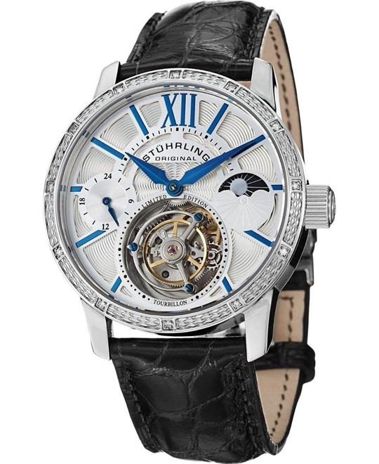 Stuhrling Original Tourbillon 296DS.331X2 Men's Diamond, 42mm