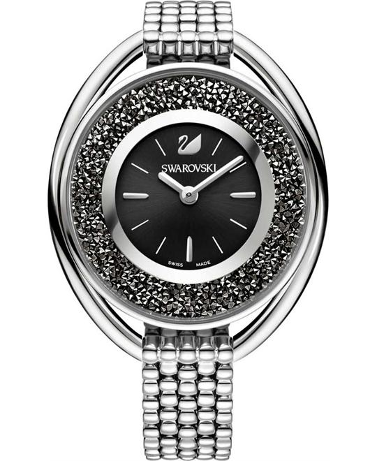 Swarovski Crystalline Oval Black Bracelet Watch  37×43mm