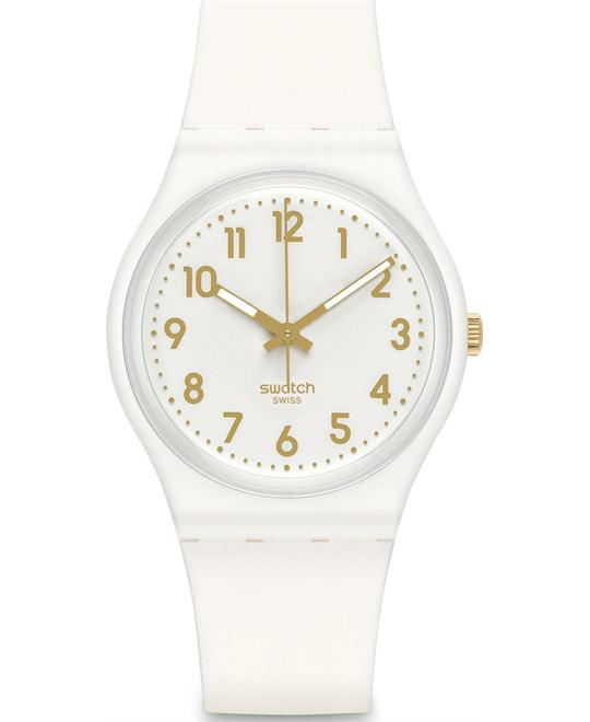 Swatch Bishop Analog Silicone Unisex Watch 33mm