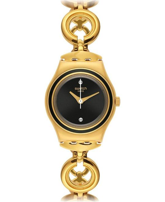 Swatch Black Hat Ladies Watch 24mm