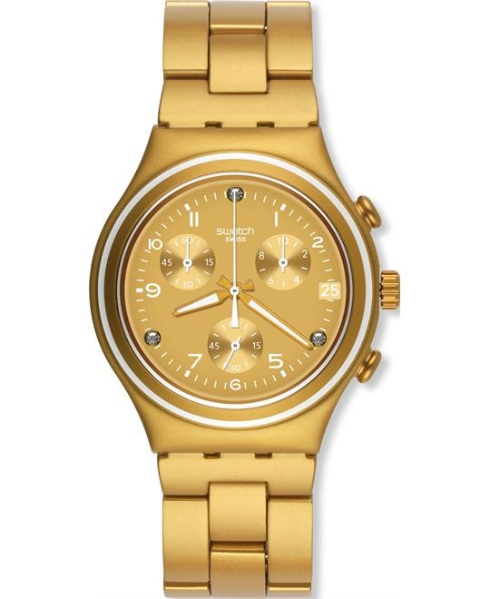 Swatch Blaze Chrono Glitz Aluminium Unisex Watch, 39mm