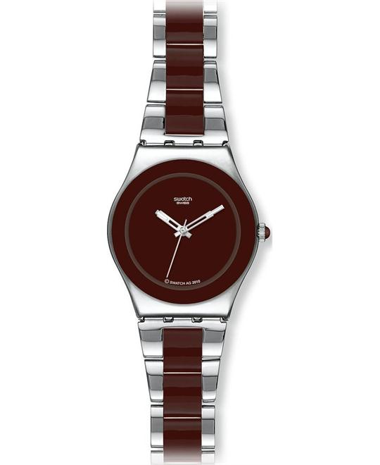 Swatch Brown Ceramic Ladies Watch 32mm
