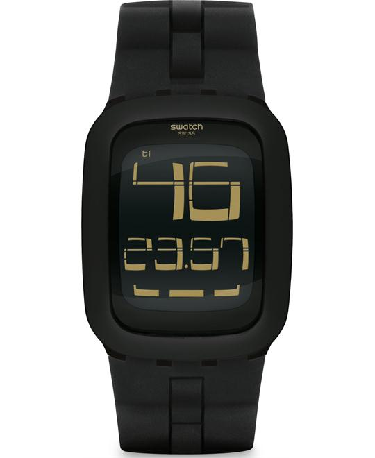 Swatch Bump Digital Silicone Band Unisex Watch, 39mm
