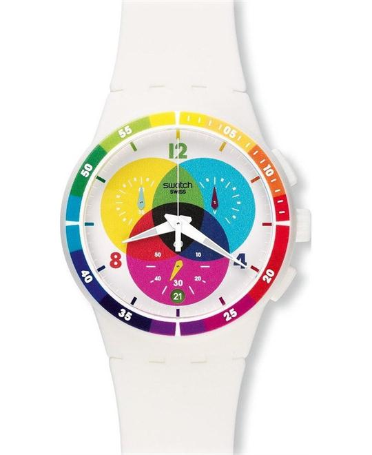 Swatch Chromograph Unisex Watch, 42mm