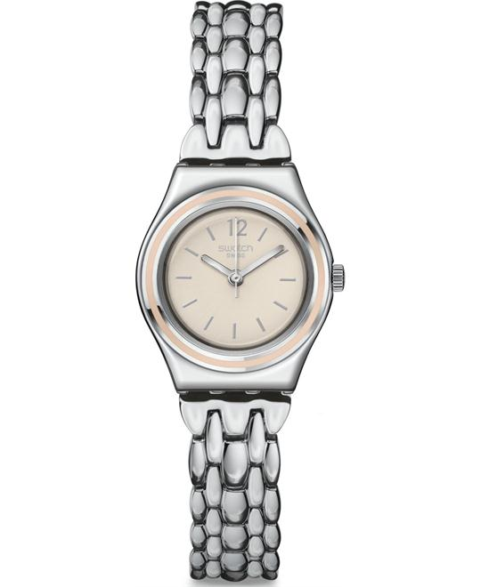 Swatch Discretly Beige Analog Women Watch NEW 25mm