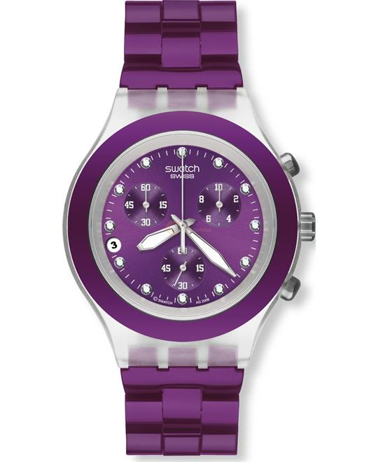Swatch Full Blooded Blueberry Unisex Watch 42mm