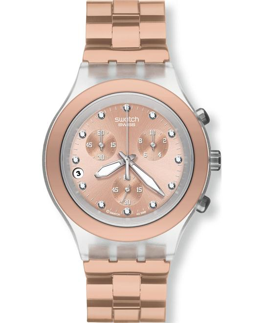 Swatch Full Blooded Caramel Watch 43mm