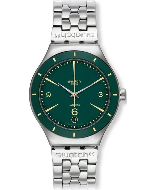Swatch Green Sky watch, 37.5mm
