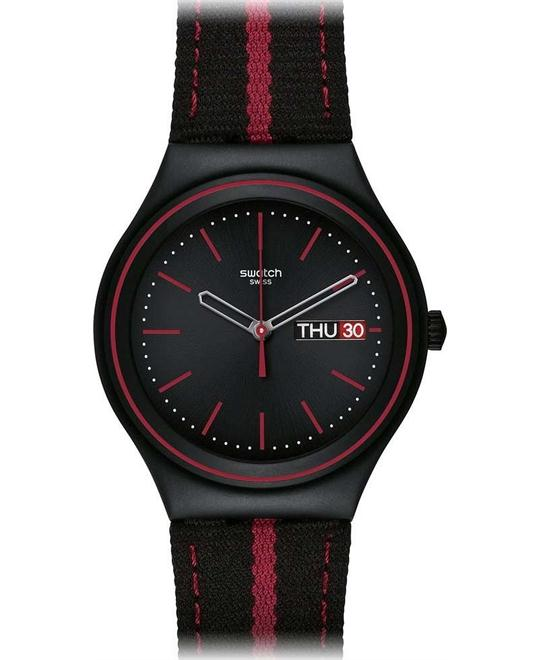 Swatch he Prince Of Red Stripe Ladies Watch, 37mm