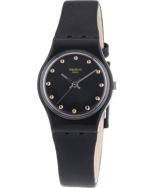 Swatch Hora Negro Silicone Strap Ladies Watch, 25mm
