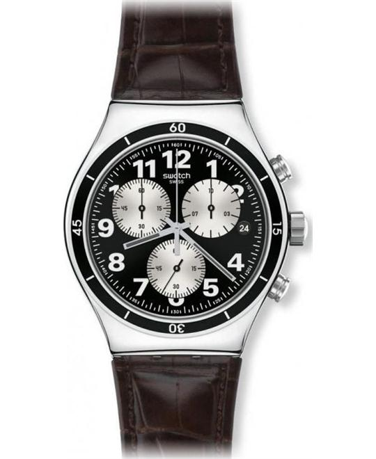 Swatch Irony Browned Chronograph Mens Watch 43mm