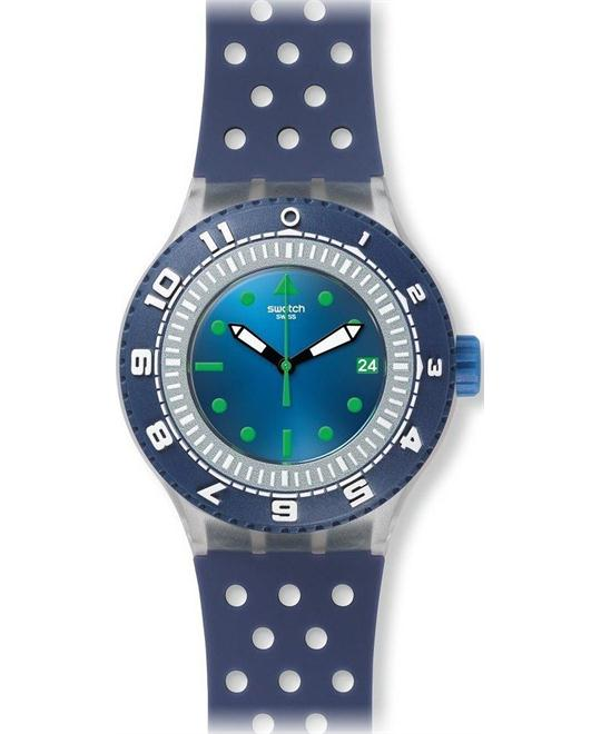 Swatch Men's Originals Rubber Swiss Watch,43mm