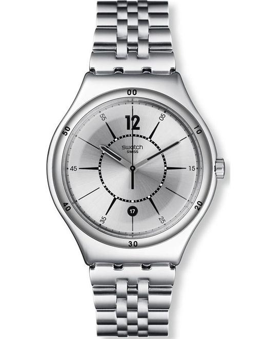 Swatch Moonstep Stainless Steel watch, 37mm