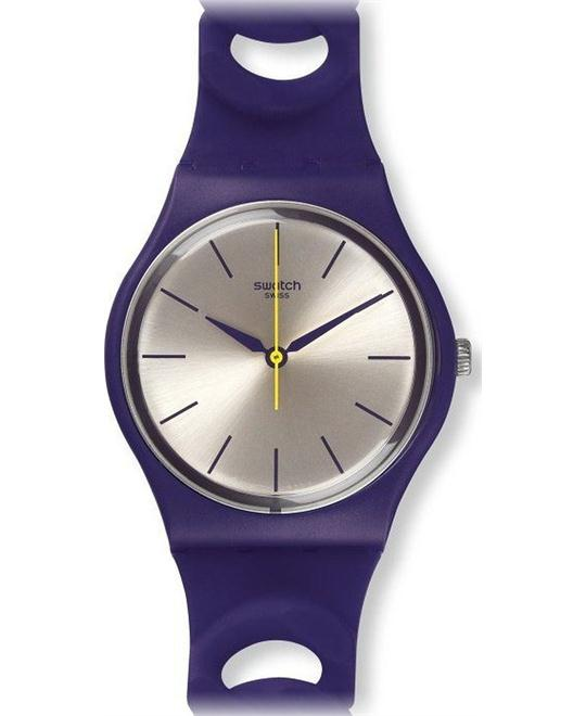 SWATCH PURPBELL PURPLE SILICONE MENS WATCH, 34MM
