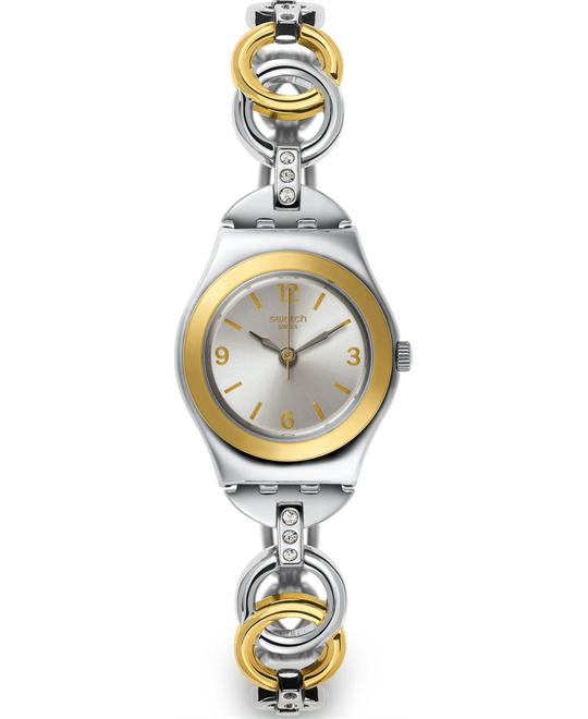 Swatch Ring Bling Grey Two Tone Ladies Watch 25mm