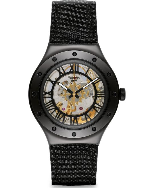 Swatch Rosetta Nera Black Analog Unisex Watch 37mm