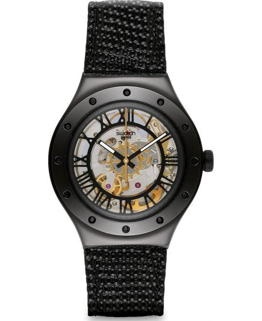 Swatch Rosetta Nera Black Analog Unisex Watch 37mm