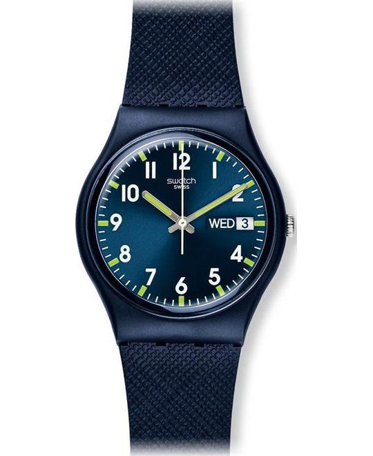 Swatch Sir Blue Unisex Watch, 34mm