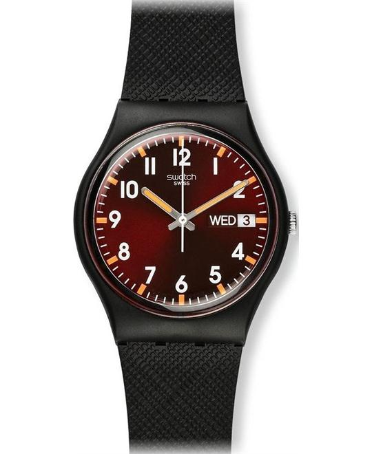 Swatch Sir Red Unisex Watch, 34mm