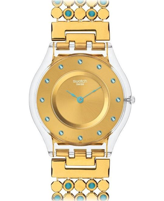 Swatch Turquoise Romantic Watch, 34mm
